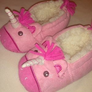 Adorable Plush Unicorn Slippers